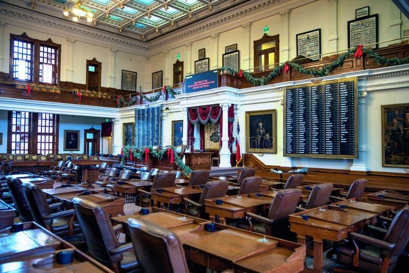 得克萨斯状态国会大厦众院 免版税库存照片