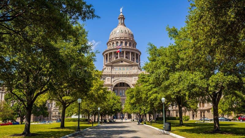 得克萨斯状态国会大厦大厦在奥斯汀,得克萨斯 免版税库存照片