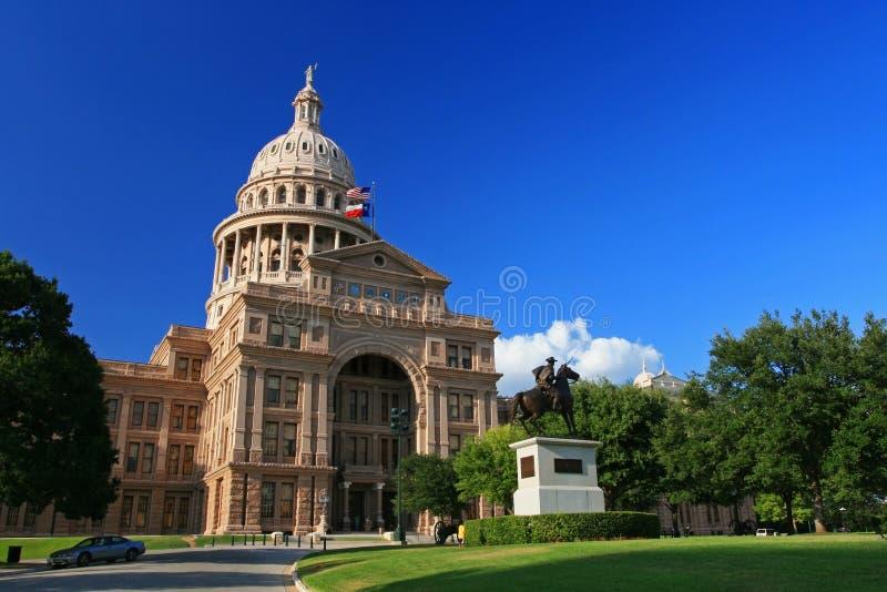 得克萨斯状态国会大厦大厦在奥斯汀 免版税库存图片