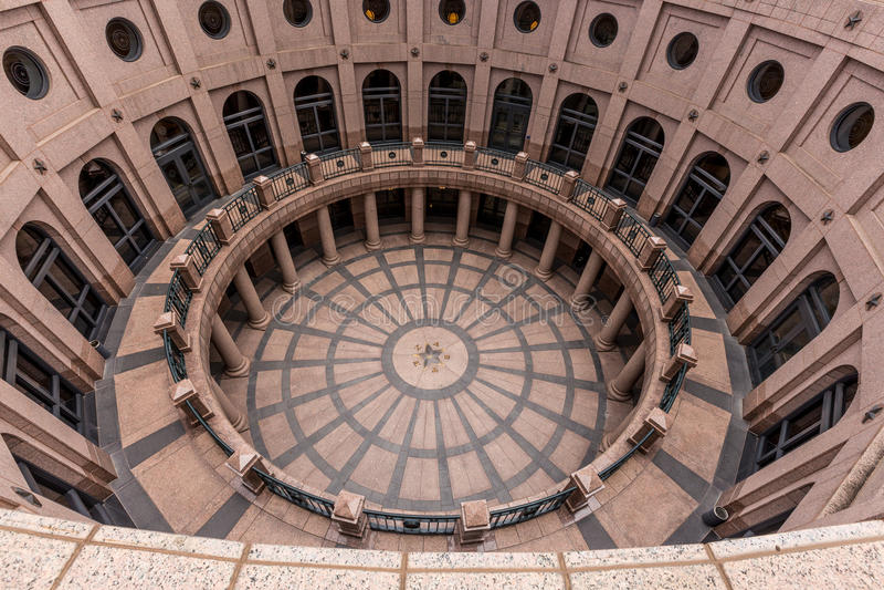 得克萨斯状态国会大厦大厦大厅 库存照片