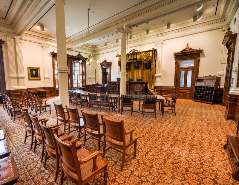 得克萨斯状态国会大厦最高法院,奥斯汀,得克萨斯 库存图片