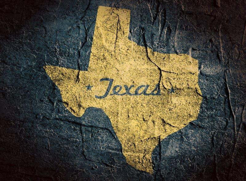 得克萨斯状态地图 免版税图库摄影