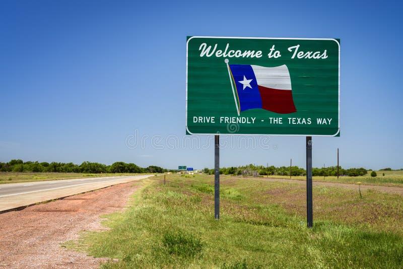 得克萨斯状态标志 库存照片