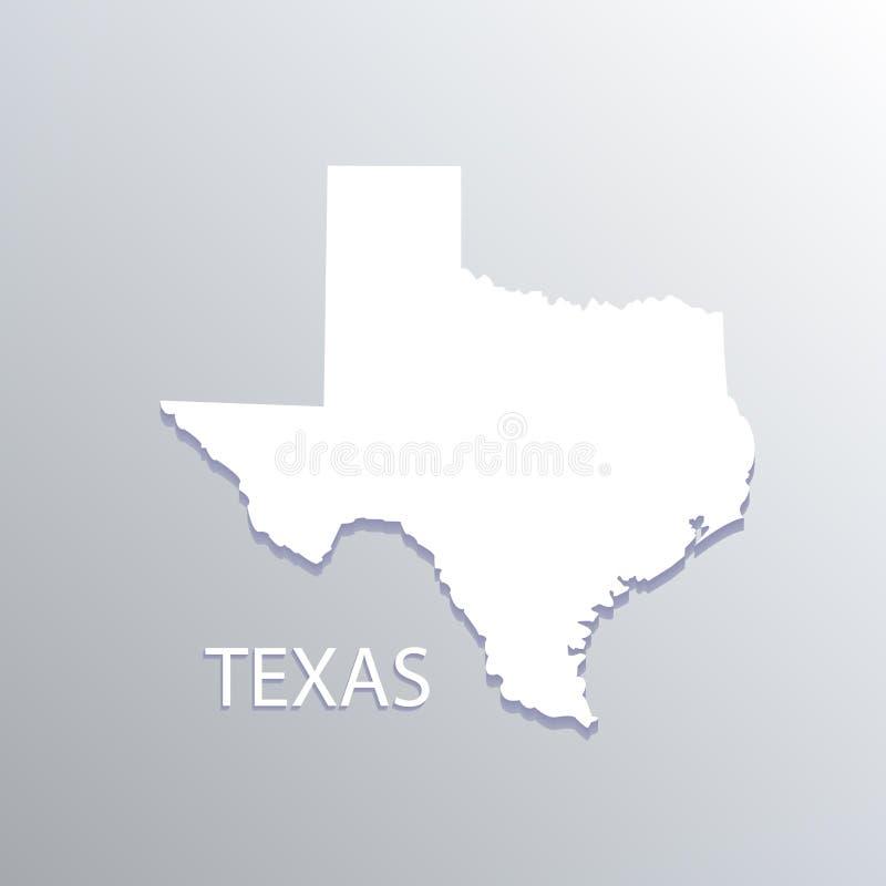 得克萨斯白色地图传染媒介例证设计id卡片镜象 向量例证