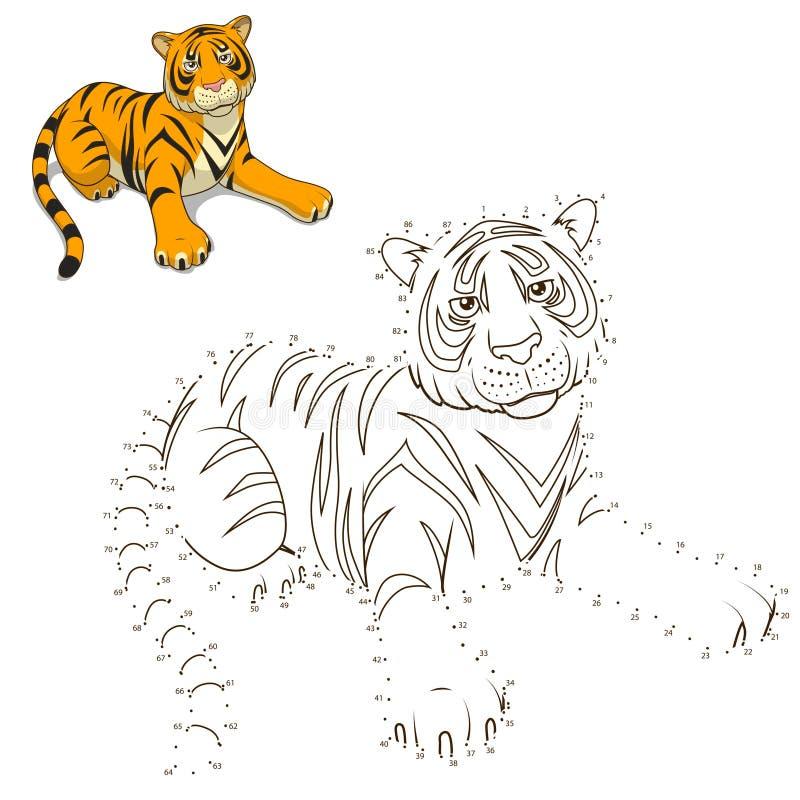 得出动物老虎教育比赛传染媒介 库存例证
