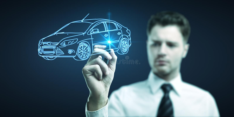 得出汽车模型 免版税库存图片