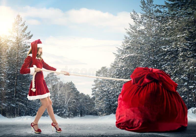 得到您的圣诞节礼物 图库摄影