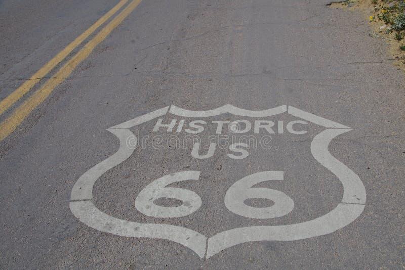 得到您的在路线66的解雇 库存照片