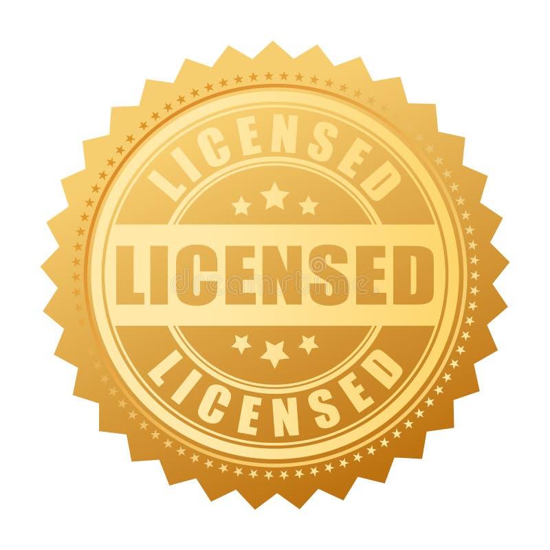 得到许可的产品传染媒介金封印 皇族释放例证