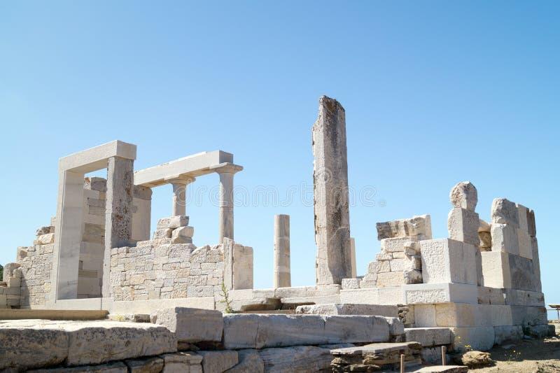 得墨忒耳,纳克索斯岛寺庙  库存照片