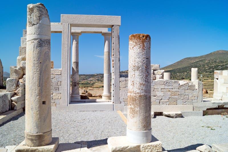 得墨忒耳,纳克索斯岛寺庙  库存图片