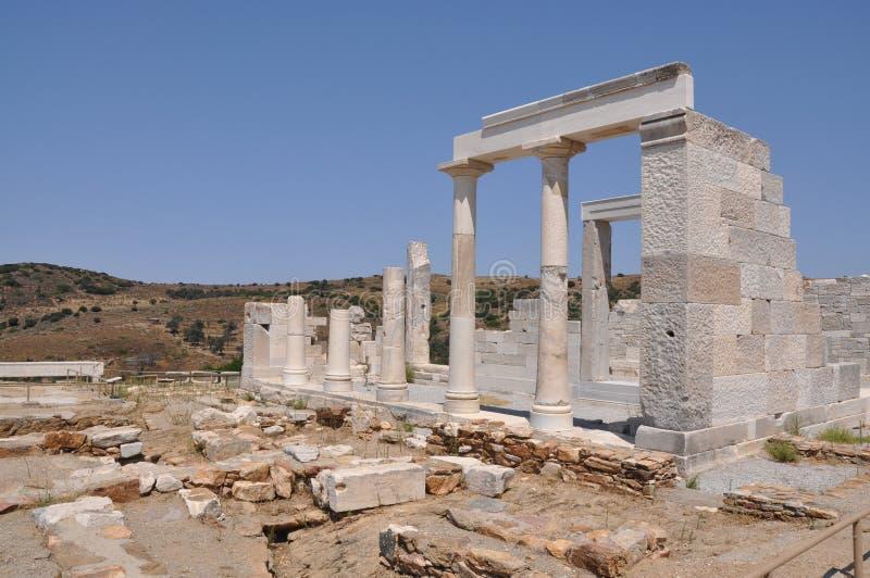 得墨忒耳naxos寺庙 免版税库存图片
