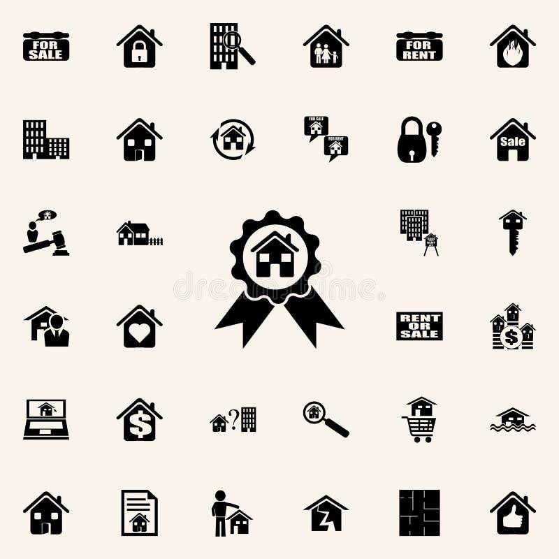 得奖的房子象 网和机动性的房地产象全集 库存例证