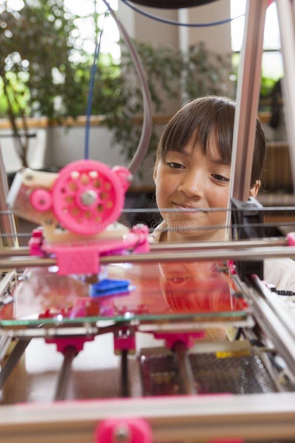 得知3D打印机 免版税库存照片