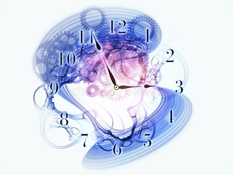 循环时间 向量例证