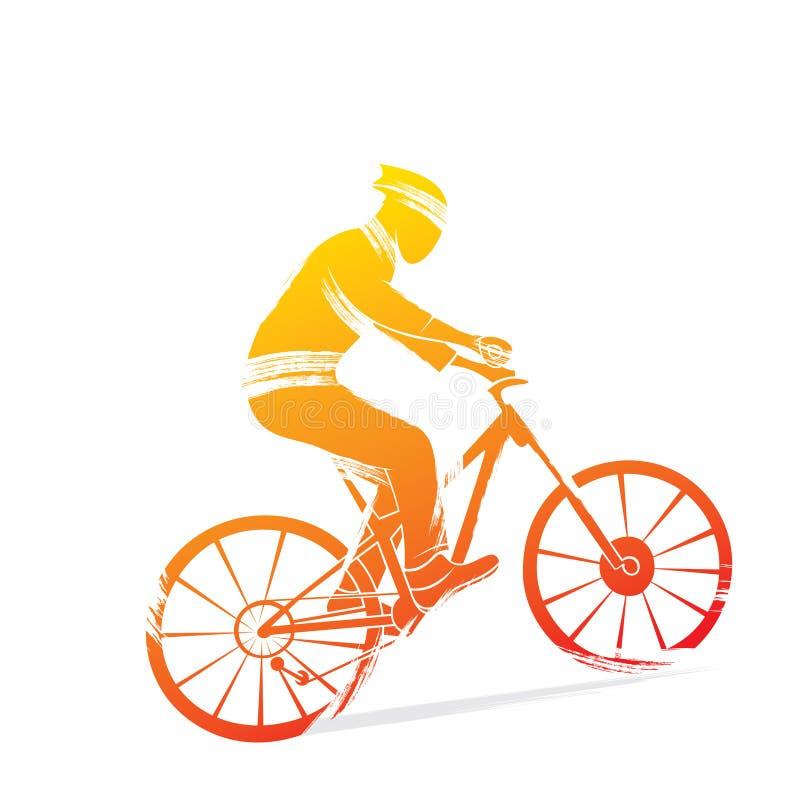 循环的体育设计 向量例证