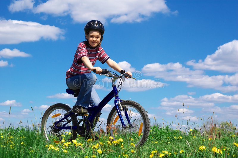循环的女孩 库存图片