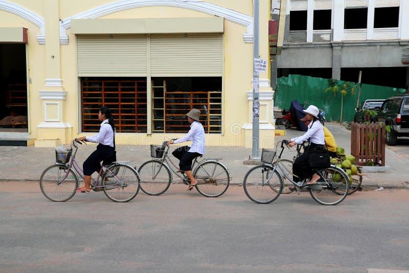 循环的学校 库存照片