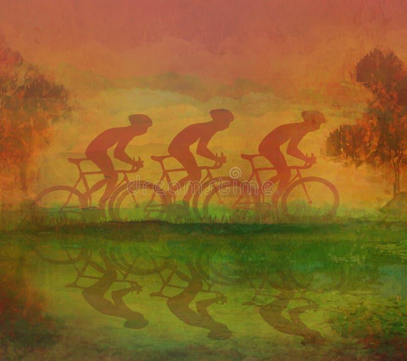 循环的抽象风景 皇族释放例证
