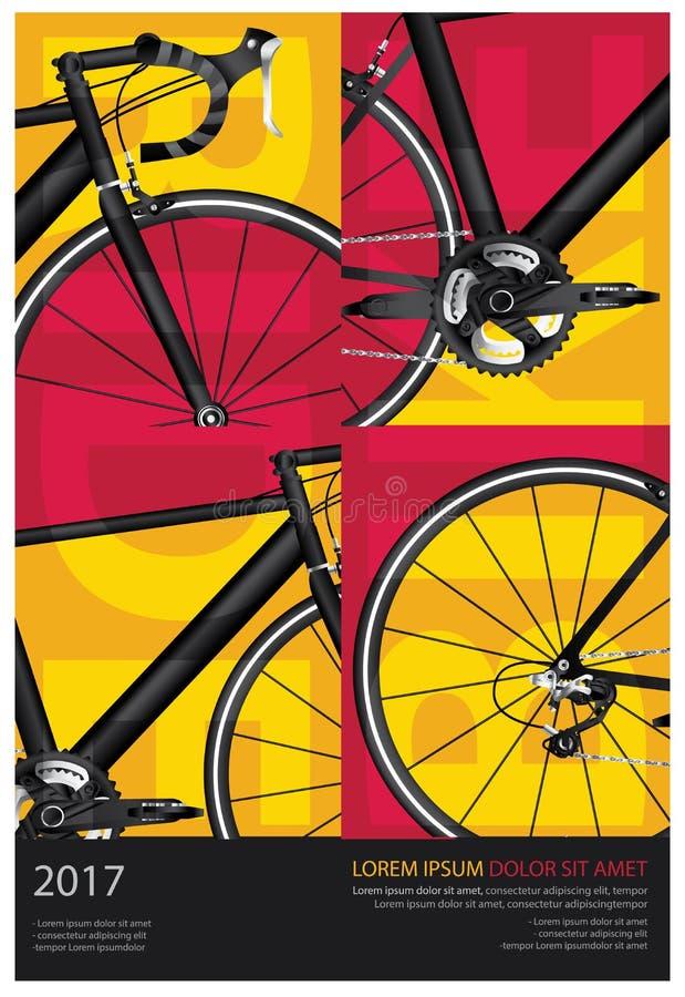 循环的海报 库存例证