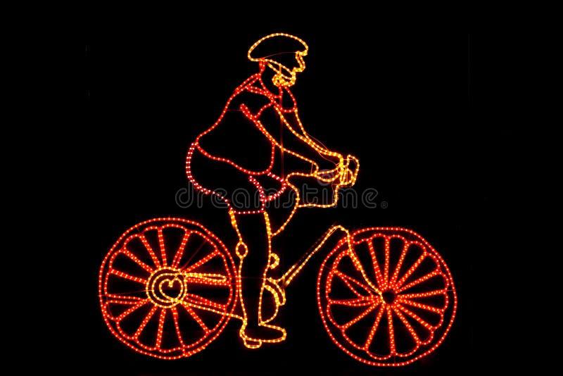 循环的霓虹模式 库存图片
