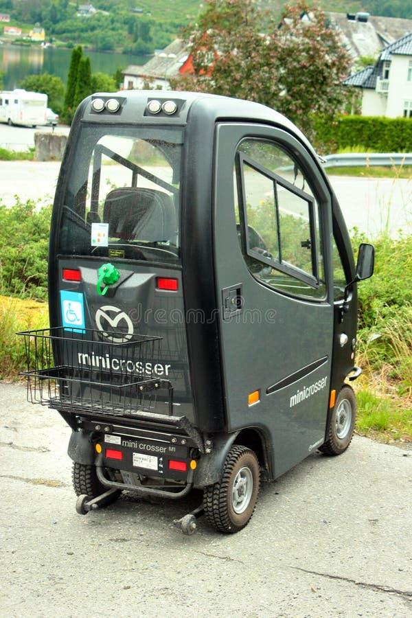 微型克洛瑟,一辆普遍的个人车在Ulvik,挪威 库存图片