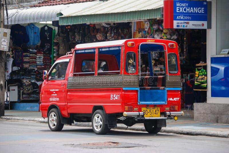微型出租汽车公共汽车 图库摄影