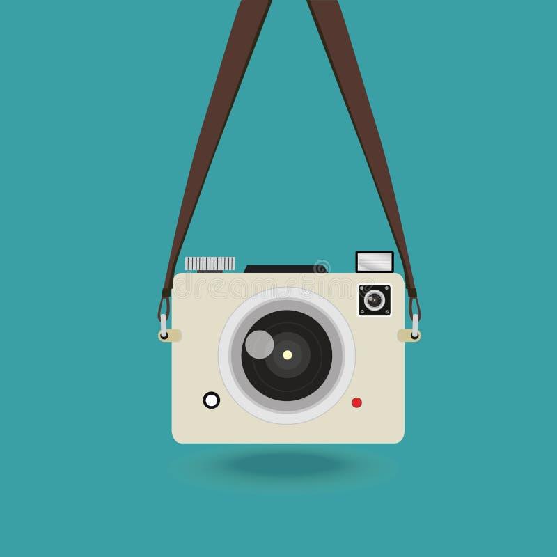 微型垂悬的照相机的照片 库存例证