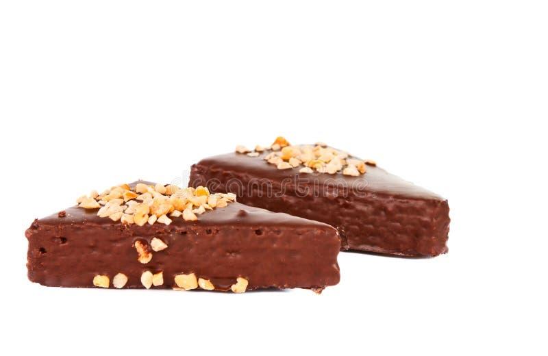 微型巧克力蛋糕棒 免版税库存图片