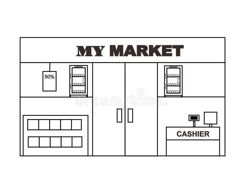 微型市场布局设计传染媒介 库存图片