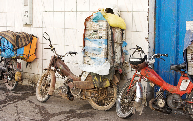 微型摩洛哥卡车 免版税图库摄影