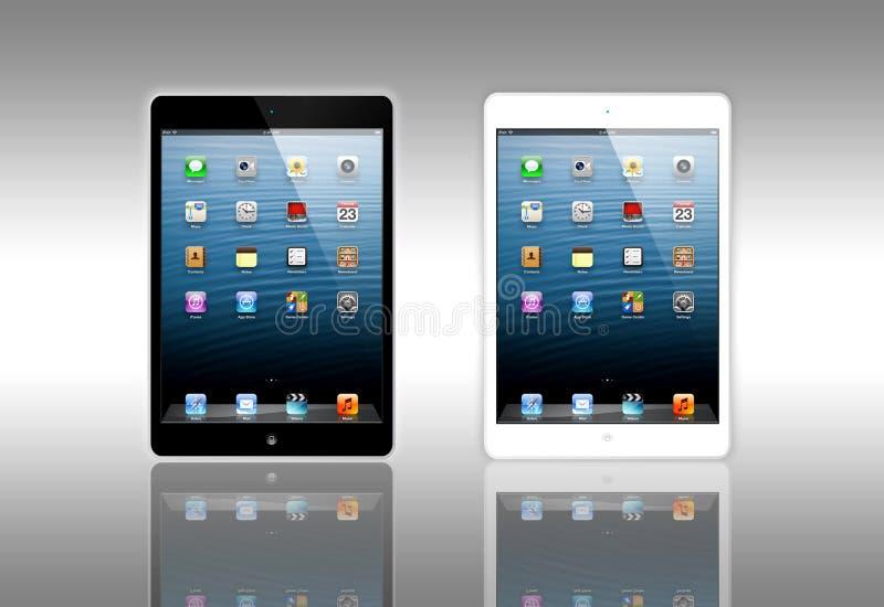 微型新的Apple的iPad 向量例证
