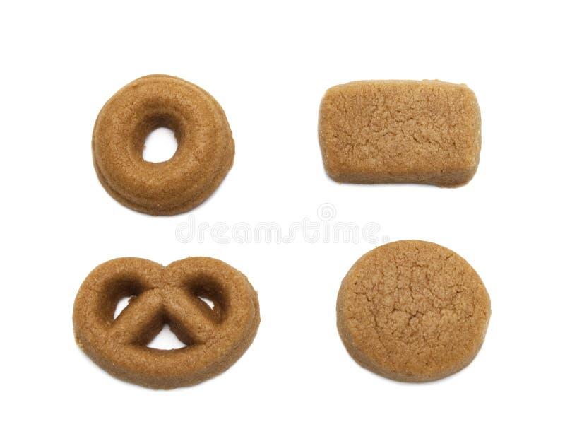 微型曲奇饼巧克力麦芽调味了 嘎吱咬嚼的可口甜膳食和有用的薄脆饼干饼干  库存图片