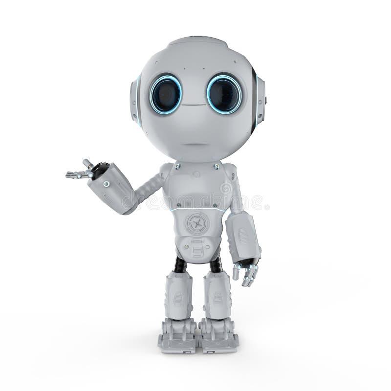 微型机器人开放手 库存例证