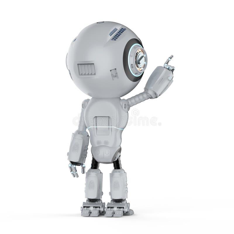 微型机器人手指点 向量例证