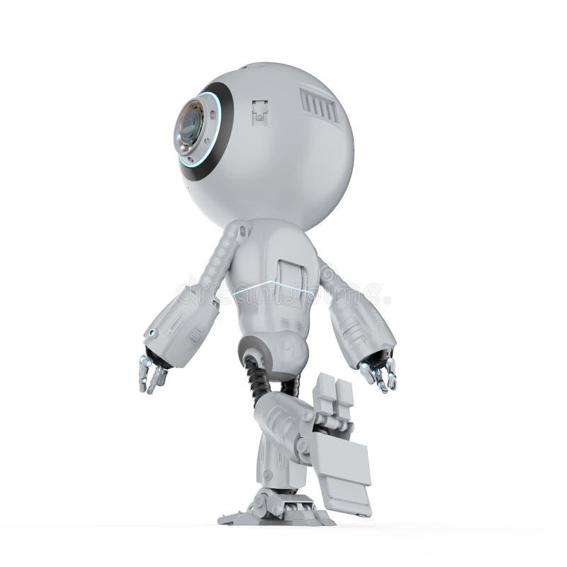 微型机器人步行 库存例证