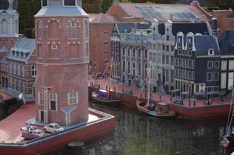 微型欧洲Parc在布鲁塞尔,比利时-在阿姆斯特丹端起 免版税库存图片