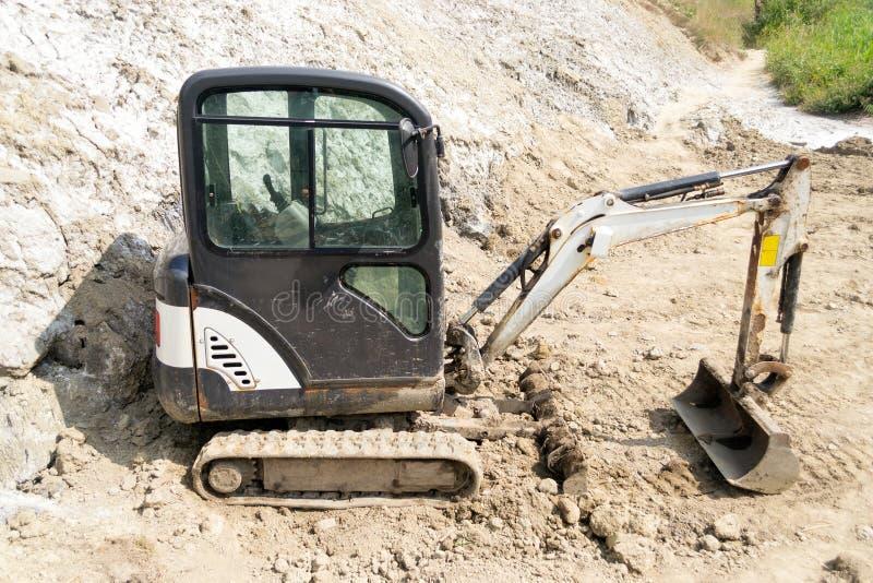 微型水力挖掘机 免版税图库摄影
