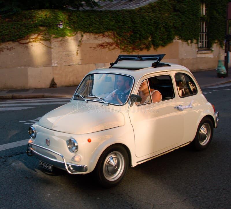 微型汽车类型20世纪的奥斯汀莫里斯第二一半 免版税图库摄影