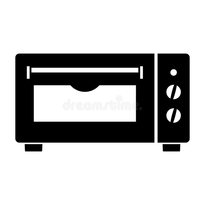 微型电烤箱 皇族释放例证