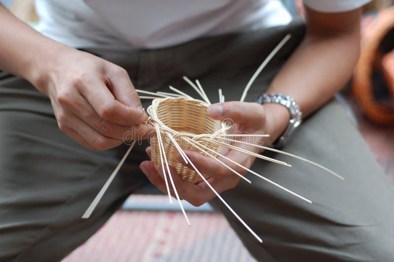 微型的篮子编织 免版税图库摄影