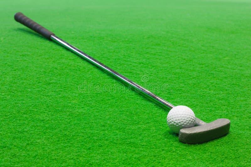 微型的高尔夫球 库存照片