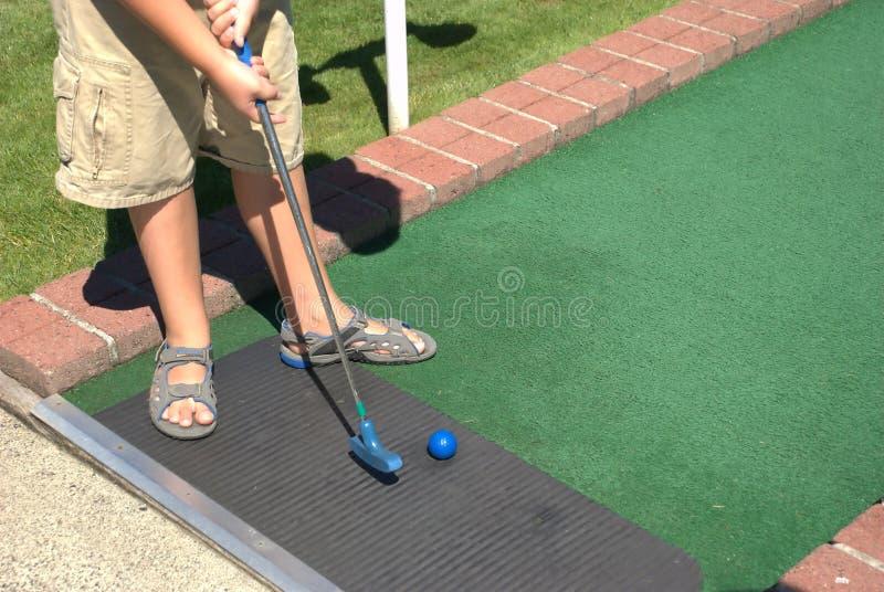 微型的高尔夫球 库存图片