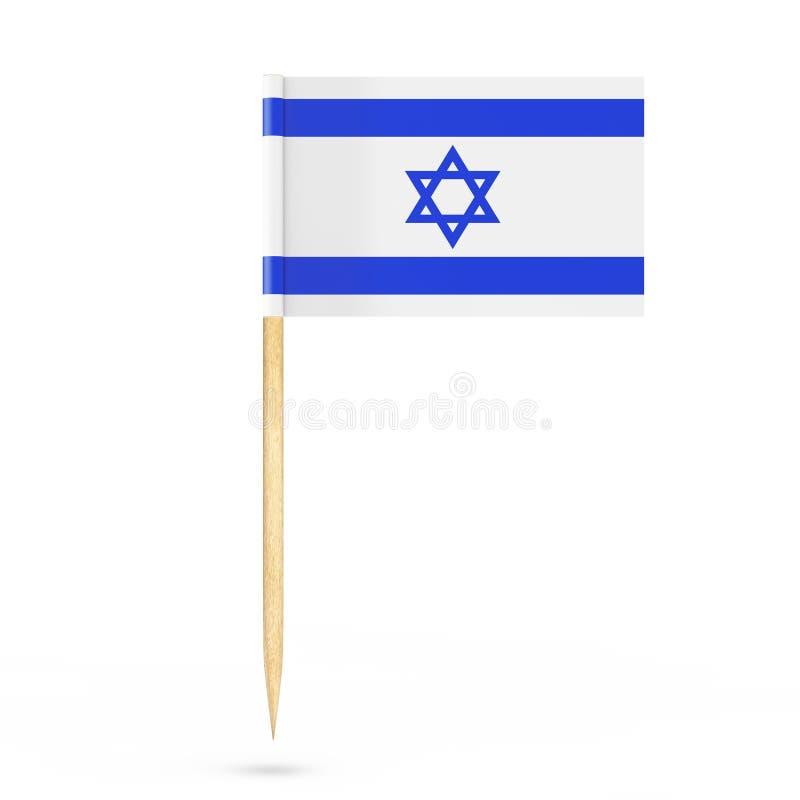 微型纸以色列尖旗子 3d翻译 皇族释放例证