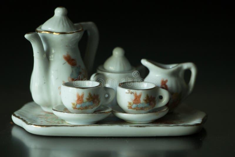 微型茶具 图库摄影