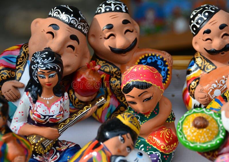 微型雕象的愉快的乌兹别克人国家 库存图片