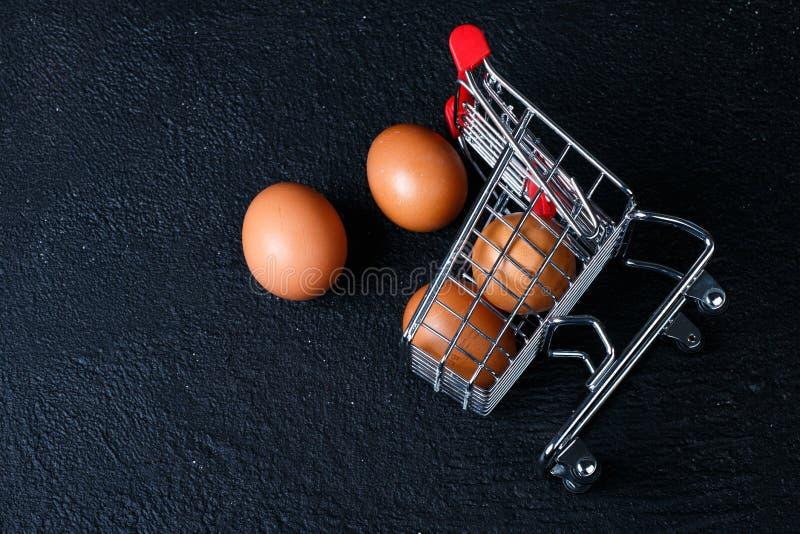 微型食物推车用食物 库存照片