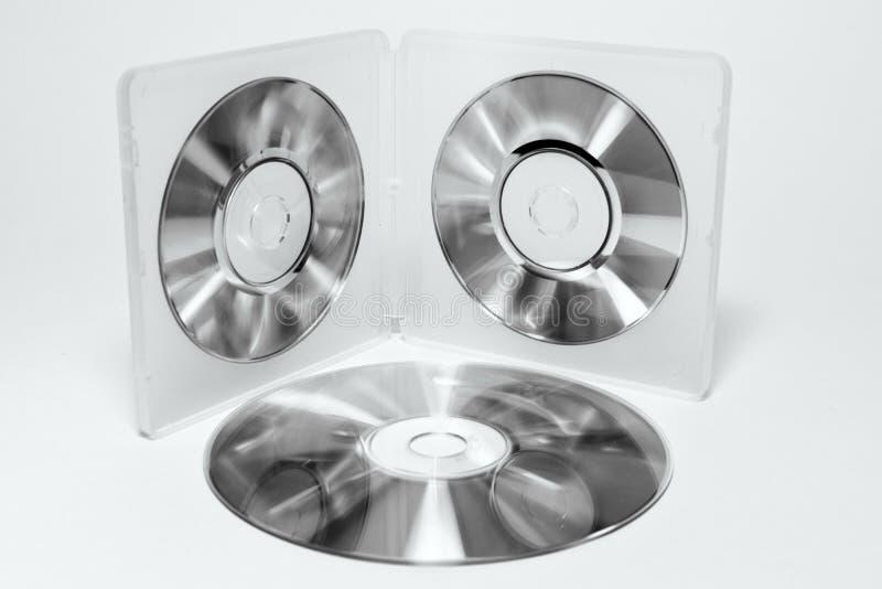 微型CD的盒 黑白颜色 图库摄影