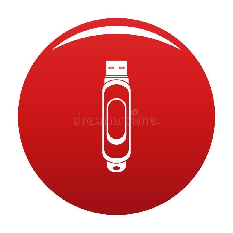 微型usb象传染媒介红色 皇族释放例证