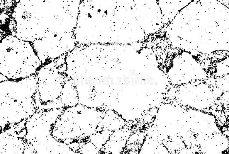 微妙的黑半音传染媒介裂缝纹理覆盖物 单色抽象喷溅的白色背景 黑白被加点的五谷 库存例证
